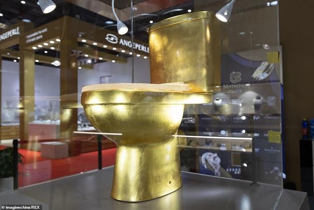 Toilet vàng 1,3 triệu USD đính 41.000 viên kim cương gây xôn xao Trung Quốc - 1