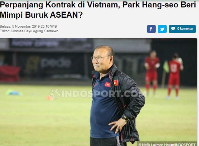 Thầy Park gia hạn hợp đồng, báo Indonesia lo cho cả… Đông Nam Á - 1