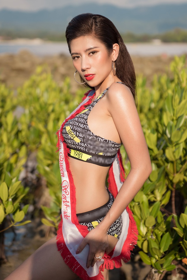 Hoa hậu Du lịch Quốc tế 2019 diện bikini khoe dáng   - 4