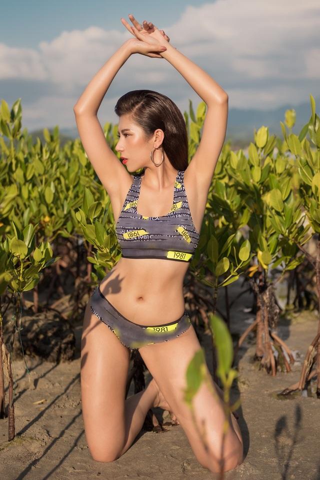 Hoa hậu Du lịch Quốc tế 2019 diện bikini khoe dáng   - 9