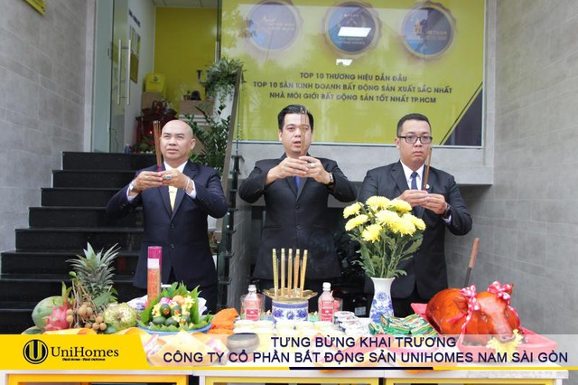 Khai trương đỏ tấn tài phát lộc cùng Công ty Cổ phần Bất động sản UniHomes Nam Sài Gòn - 1