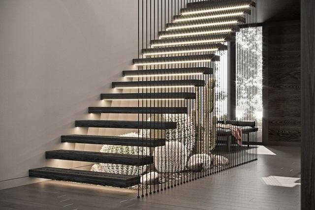 Những mẫu cầu thang phiêu diêu như cung đàn, ngắm mãi không chán - 3