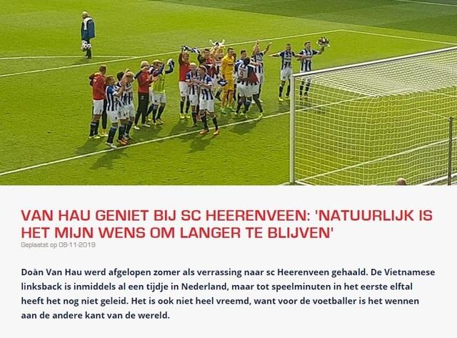 Văn Hậu trải lòng trên báo Hà Lan, muốn ở lại Heerenveen lâu dài - 1