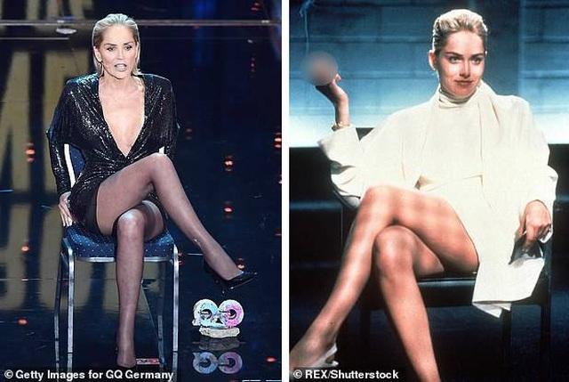 """Sharon Stone tái hiện cú vắt chân kinh điển trong """"Bản năng gốc"""" - 1"""