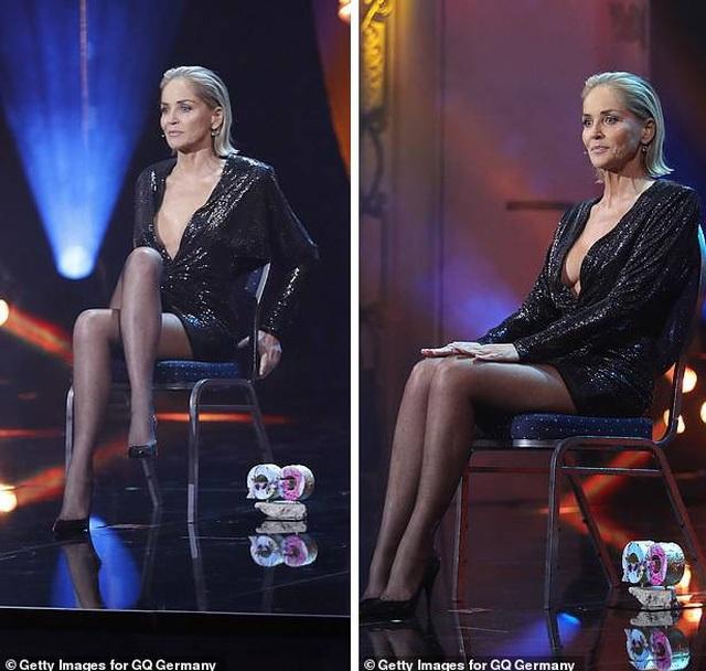 """Sharon Stone tái hiện cú vắt chân kinh điển trong """"Bản năng gốc"""" - 4"""