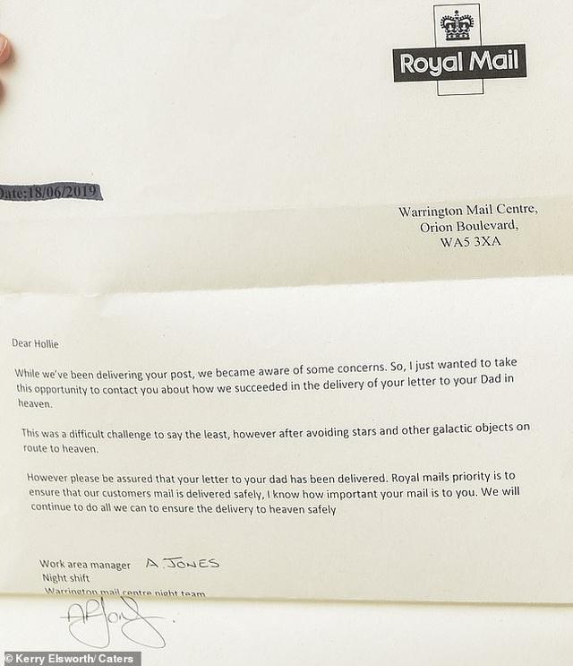 Lá thư của bé gái gửi cho người cha đã qua đời bất ngờ nhận được hồi đáp - 3