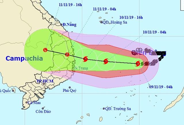 Ảnh hưởng bão số 6, đêm nay nhiều tỉnh Nam Trung Bộ mưa to - 1