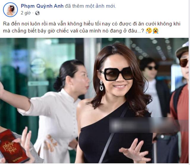 Phạm Quỳnh Anh bị thất lạc vali khi đi dự đám cưới Đông Nhi - 1