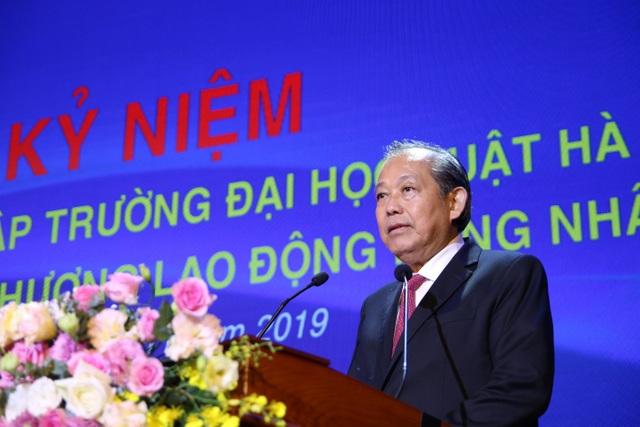 Kỷ niệm 40 năm thành lập, ĐH Luật Hà Nội nhận Huân chương Lao động hạng Nhất - 4
