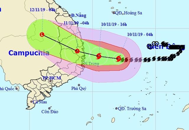 Bão số 6 giữ nguyên hướng, dự kiến vào Quảng Ngãi đến Khánh Hòa - 1