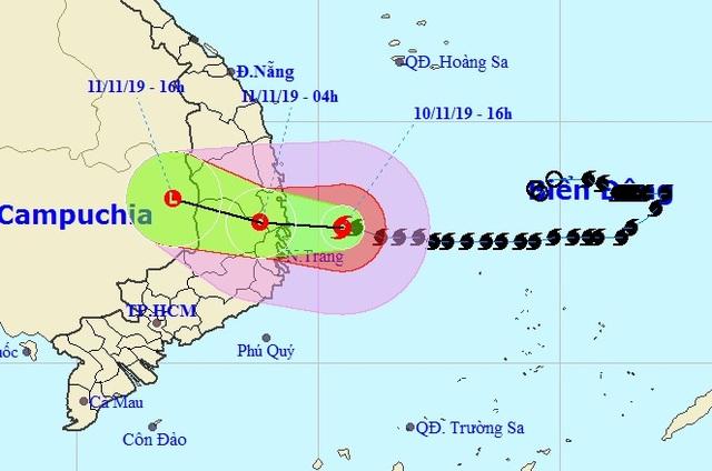 Bão số 6 đã ảnh hưởng đến đất liền các tỉnh Nam Trung Bộ - 1