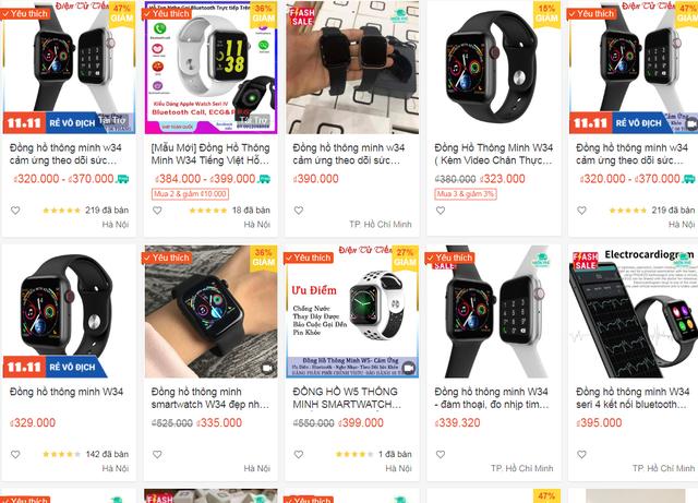 Đồng hồ nhái Apple Watch nhan nhản, giá chưa tới 500.000 đồng - 3