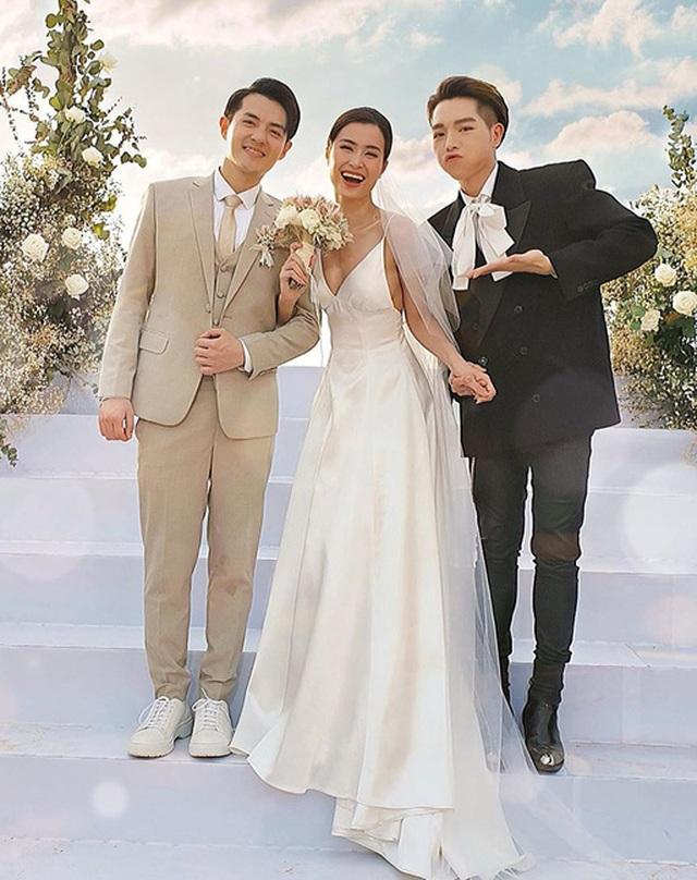 Đông Nhi thay ba bộ váy trong đám cưới - 3