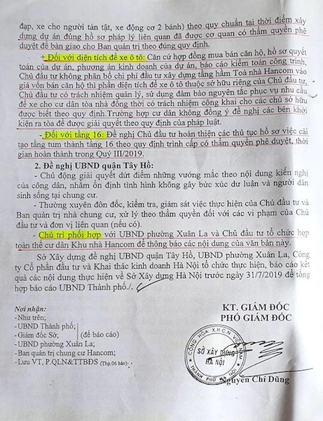 Tại sao cư dân chung cư Hancom quyết phản đối văn bản của Sở Xây dựng TP Hà Nội? - 4