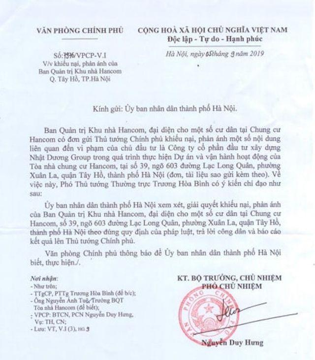 Tại sao cư dân chung cư Hancom quyết phản đối văn bản của Sở Xây dựng TP Hà Nội? - 2
