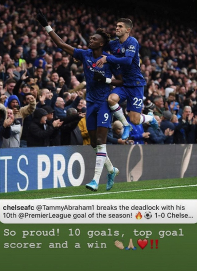 """Tiền đạo trẻ của Chelsea được bạn gái xinh đẹp """"tâng lên mây xanh"""" - 1"""