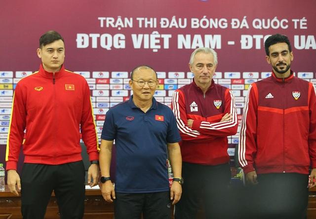 """HLV Park Hang Seo: """"UAE chắc chắn chơi tất tay với đội tuyển Việt Nam"""" - 2"""