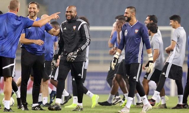 Đội tuyển UAE làm quen thời tiết Hà Nội và mặt sân Mỹ Đình - 1
