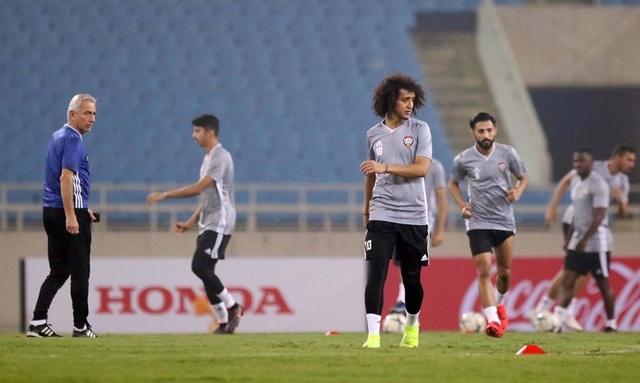 Đội tuyển UAE làm quen thời tiết Hà Nội và mặt sân Mỹ Đình - 7