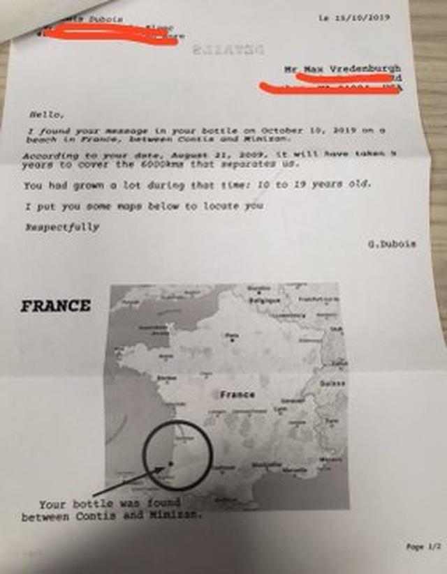 Viết thư thả biển, 9 năm sau nhận được hồi đáp - 3