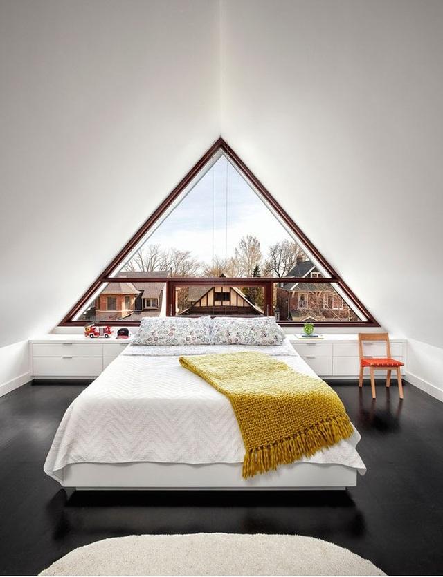 Mẫu nhà mái tam giác 2 tầng đẹp long lanh với chi phí thấp - 3