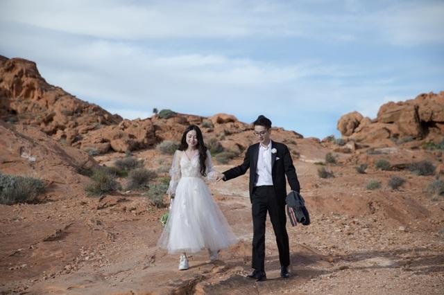 """Rich kid Cẩm Tú """"khoe"""" ảnh cưới đẹp long lanh tại Las Vegas - 4"""