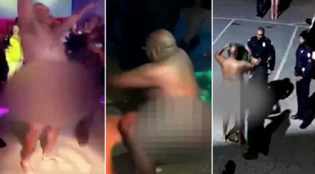 Cảnh sát say xỉn thoát y nhảy múa trong hộp đêm lọt ống kính camera - 1