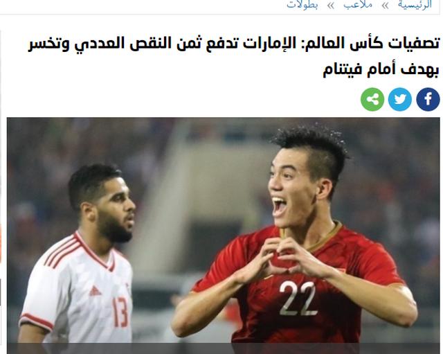 Báo UAE cay đắng, lo lắng cho số phận đội nhà sau trận thua Việt Nam - 2
