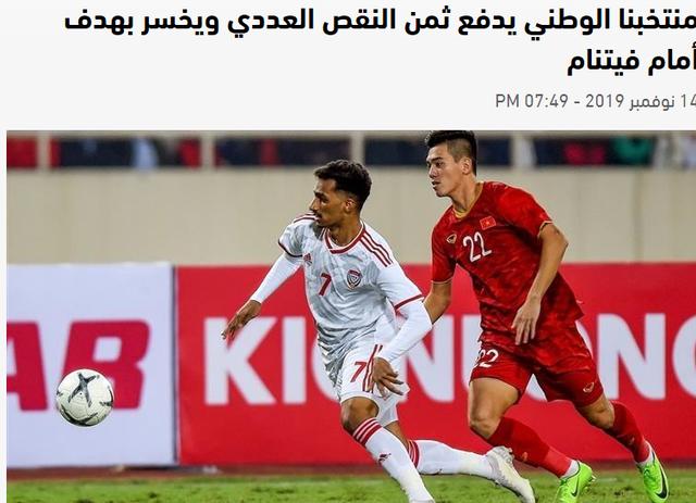 Báo UAE cay đắng, lo lắng cho số phận đội nhà sau trận thua Việt Nam - 1