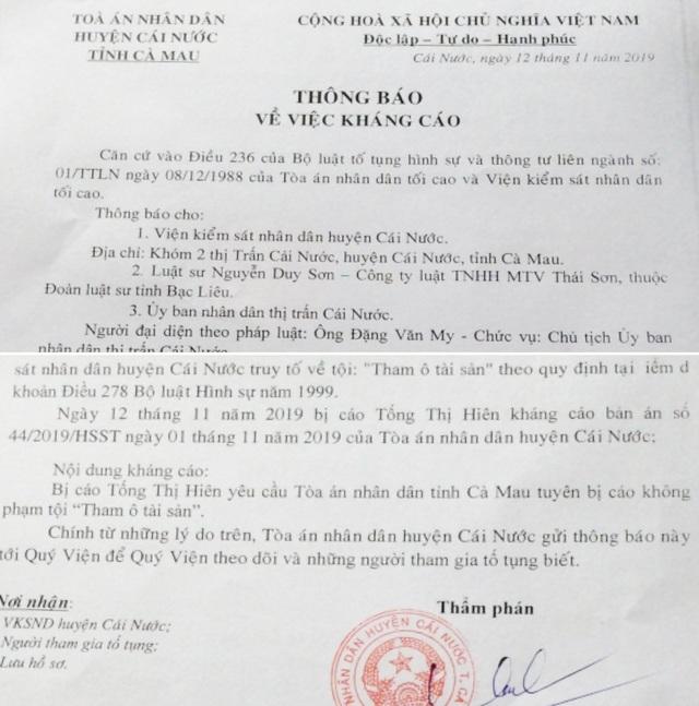 Tòa sơ thẩm tuyên án tù, nguyên kế toán ủy ban thị trấn tiếp tục kháng cáo kêu oan - 4