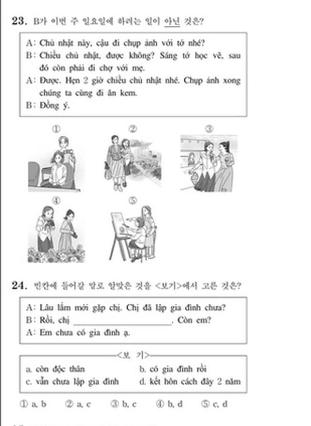 Thử sức với đề thi môn Tiếng Việt trong kỳ thi Đại học Hàn Quốc 2019 - 3