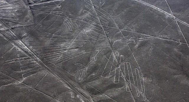 Sinh vật bí ẩn trong hình vẽ khổng lồ cổ đại mới được tìm thấy ở Peru - 1