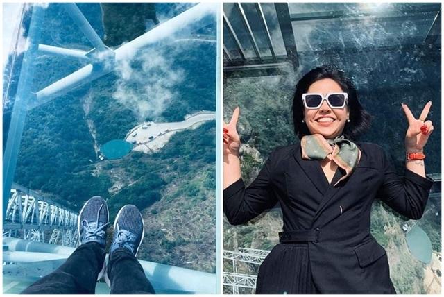 Du khách thích thú trải nghiệm cầu kính cao 500m, ngắm toàn cảnh Hoàng Liên Sơn - 2
