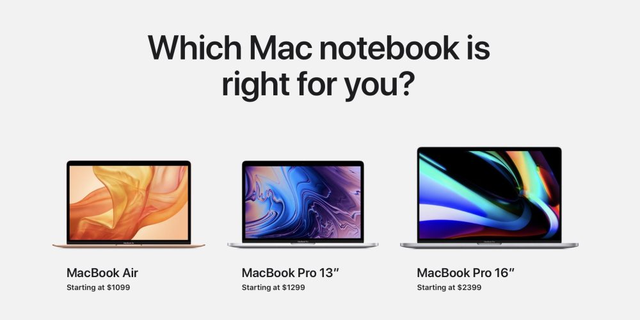 """MacBook Pro 16"""" khác gì 13"""", 15"""" mà đắt hơn cả ngàn USD? - 4"""
