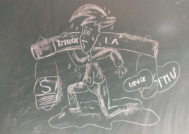 """Chia sẻ của thầy giáo 8X gây """"bão mạng"""" từ tranh vẽ bằng phấn trắng trên bảng đen - 8"""