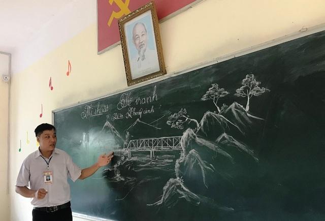 """Chia sẻ của thầy giáo 8X gây """"bão mạng"""" từ tranh vẽ bằng phấn trắng trên bảng đen - 5"""