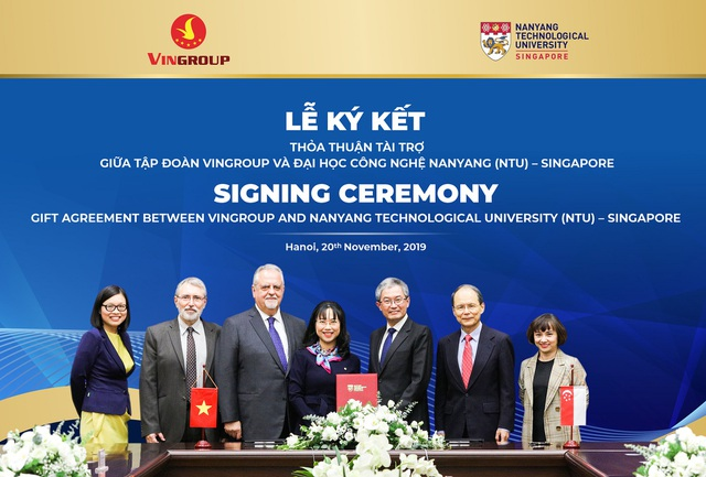 Vingroup tài trợ ĐH Công nghệ Nanyang 5 triệu đô la Singapore cấp học bổng cho người Việt - 1