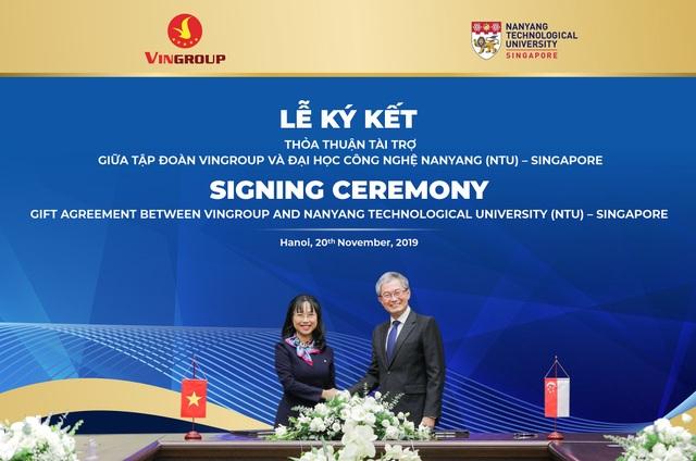 Vingroup tài trợ ĐH Công nghệ Nanyang 5 triệu đô la Singapore cấp học bổng cho người Việt - 2