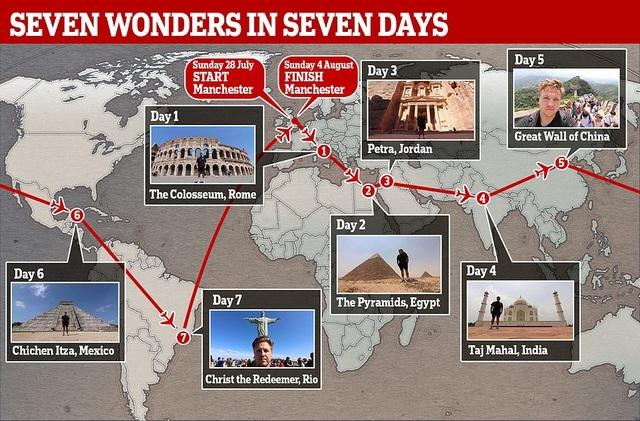 """Hành trình thần tốc """"không tưởng"""": Thăm 7 kỳ quan thế giới chỉ trong 7 ngày - 1"""