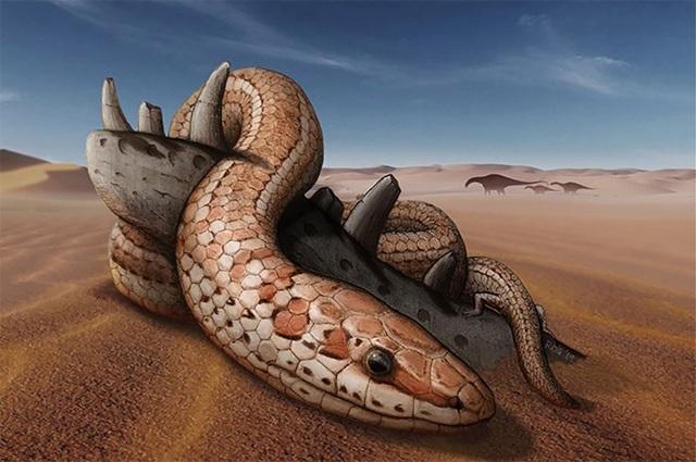 Phát hiện hóa thạch rắn cổ đại có… chân - 1