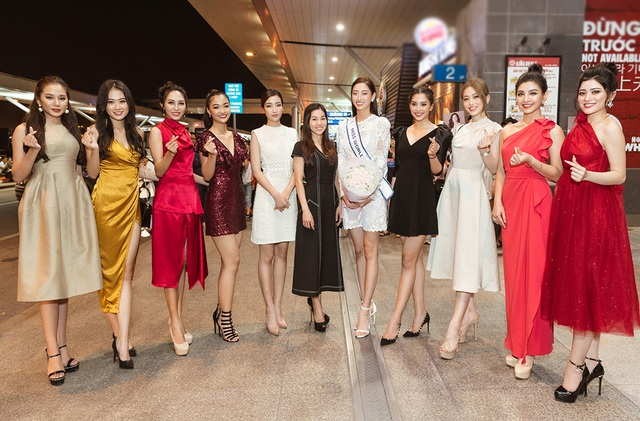 Đỗ Mỹ Linh, Tiểu Vy tiễn Lương Thùy Linh đi thi Hoa hậu Thế giới - 3