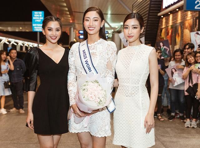 Đỗ Mỹ Linh, Tiểu Vy tiễn Lương Thùy Linh đi thi Hoa hậu Thế giới - 4