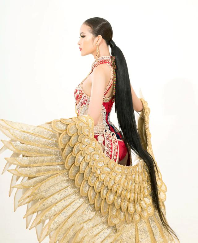 Ngọc Châu mang trang phục dân tộc vô cùng gợi cảm đến Hoa hậu Siêu quốc gia - 12