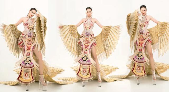 Ngọc Châu mang trang phục dân tộc vô cùng gợi cảm đến Hoa hậu Siêu quốc gia - 5