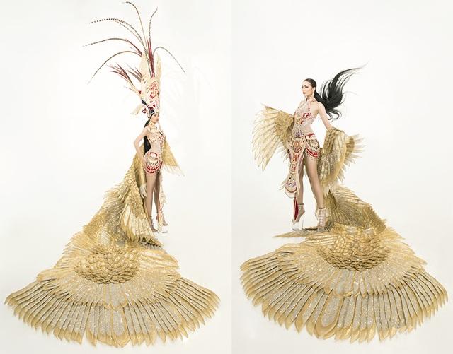 Ngọc Châu mang trang phục dân tộc vô cùng gợi cảm đến Hoa hậu Siêu quốc gia - 3