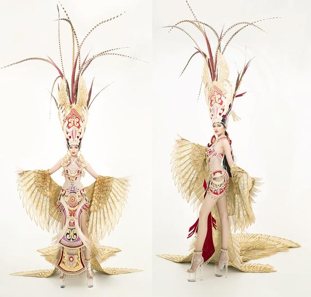 Ngọc Châu mang trang phục dân tộc vô cùng gợi cảm đến Hoa hậu Siêu quốc gia - 4