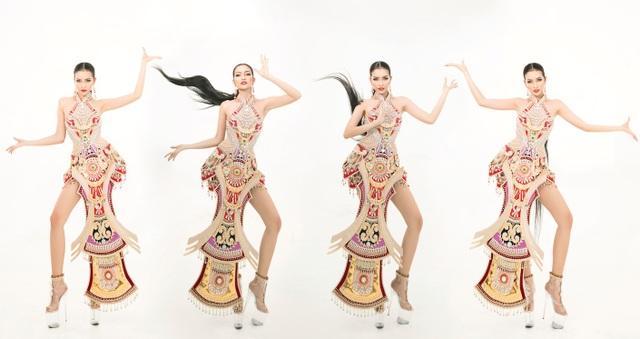 Ngọc Châu mang trang phục dân tộc vô cùng gợi cảm đến Hoa hậu Siêu quốc gia - 10