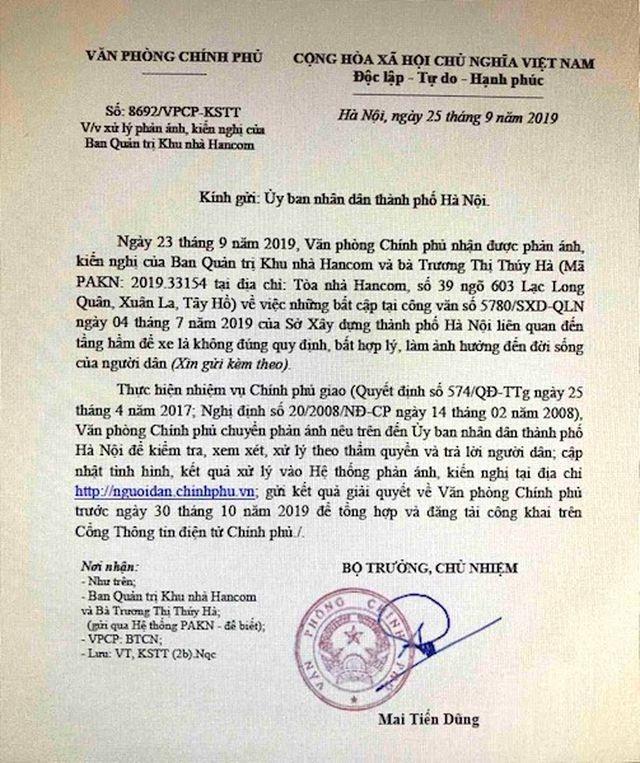 Cư dân chung cư Hancom kêu cứu đỏ toà nhà: Sở Xây dựng TP Hà Nội thụ lý khiếu nại - 3