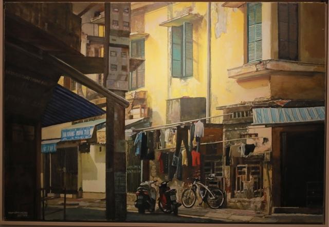 Hà Nội thanh bình qua những bức tranh xuống phố của Phạm Bình Chương - 2