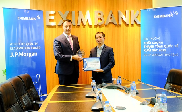 JP Morgan Bank trao giải thưởng Thanh toán quốc tế xuất sắc cho Eximbank - 1